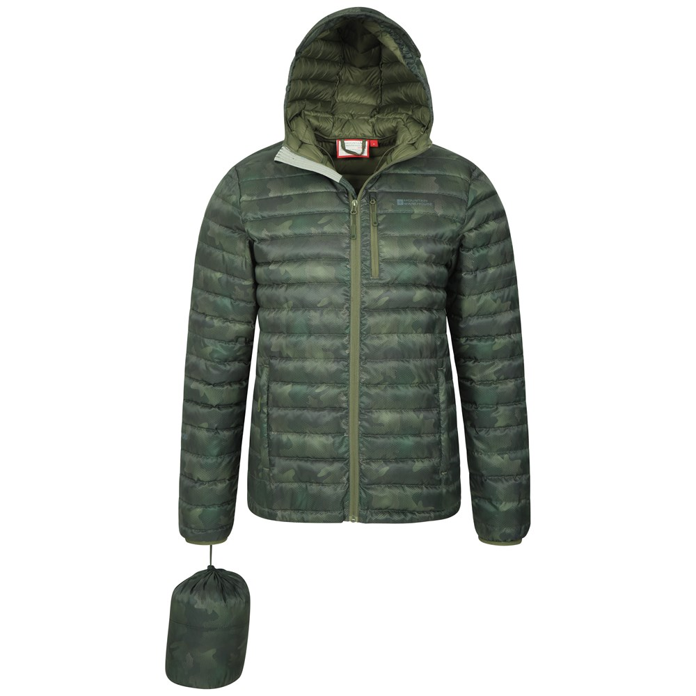 Mountain-Warehouse-Mens-Down-Padded-Jacket-Water-Resistant-Winter-Coat miniatura 32