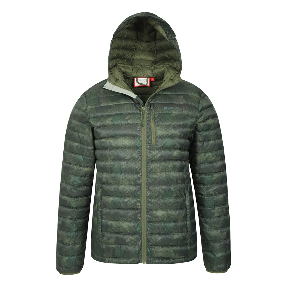 Mountain-Warehouse-Mens-Down-Padded-Jacket-Water-Resistant-Winter-Coat miniatura 33
