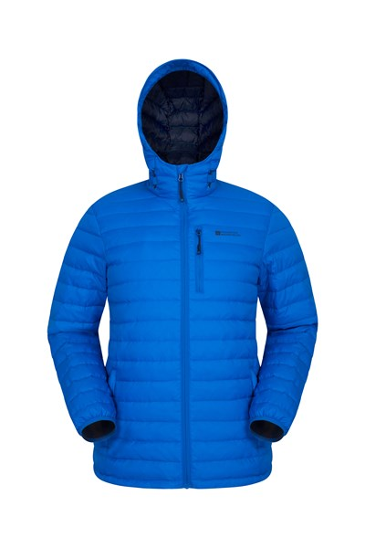 Henry II Mens Down Padded Jacket - Blue