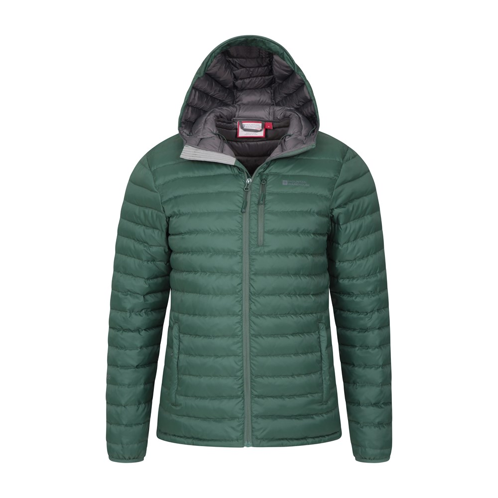 Mountain-Warehouse-Mens-Down-Padded-Jacket-Water-Resistant-Winter-Coat miniatura 45