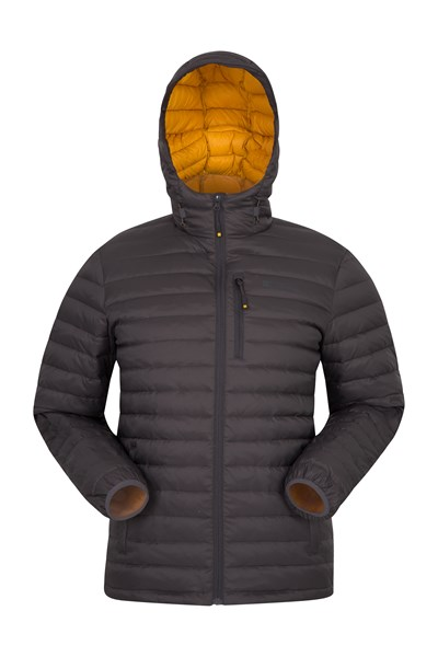 Henry II Mens Down Padded Jacket - Grey