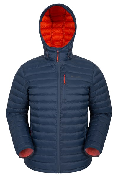 Henry II Mens Down Padded Jacket - Dark Grey