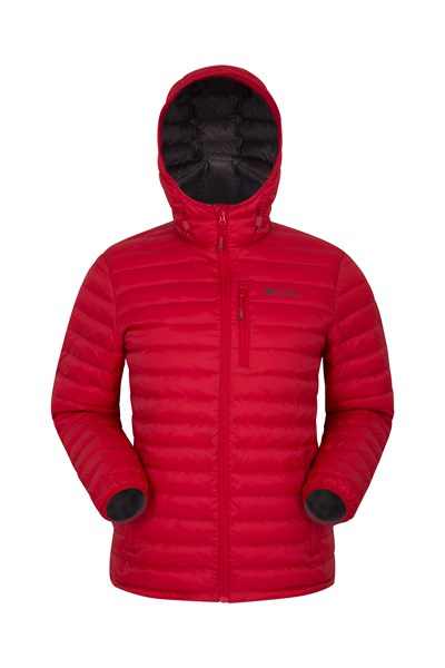 Henry II Mens Down Padded Jacket - Red