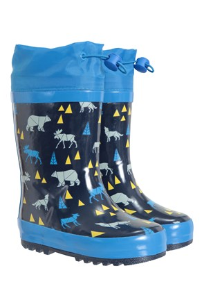 Pattern Winter Junior Wellies