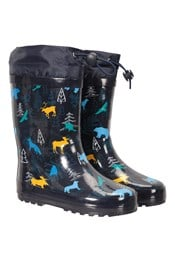 Pattern Winter Junior Rain Boots