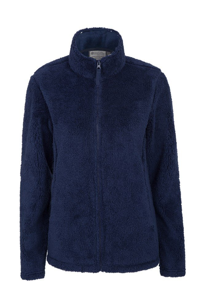 Walkabout Sherpa Full Zip Womens Fleece - Navy