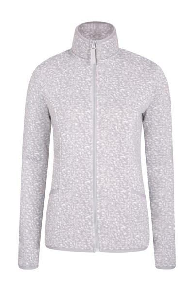 Heritage Full Zip Womens Fleece - Grey