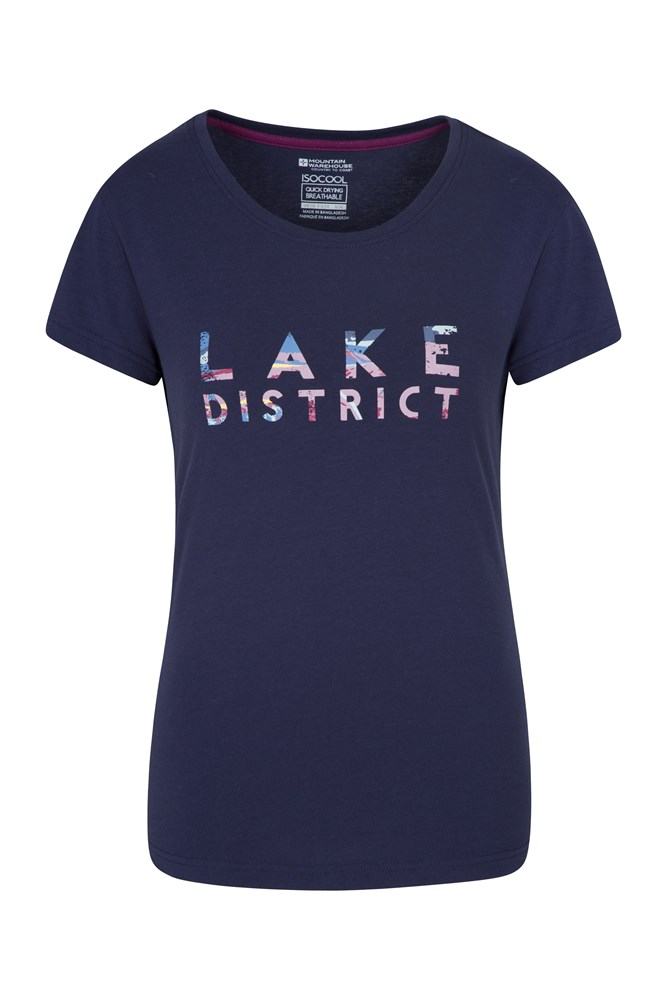 Lake District Damen T-Shirt - Marineblau