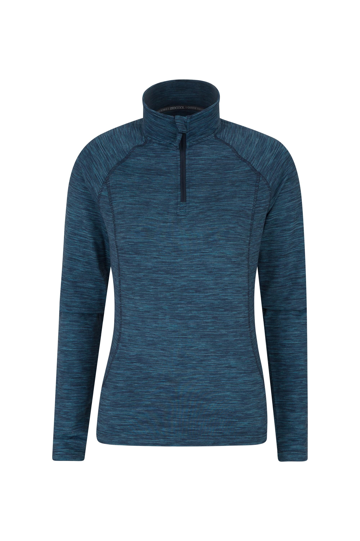 028200 blu bend and stretch womens half zip midlayer wms aw18 1