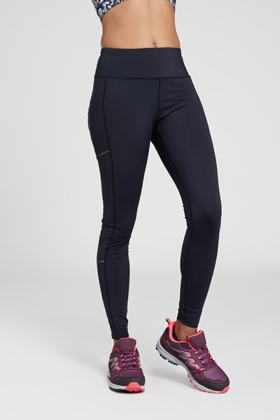 Pacesetter Womens Thermal Run Tights - Black
