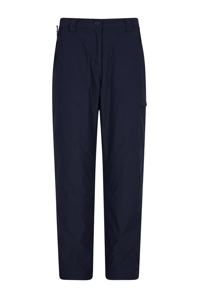 Winter Trek Stretch Womens Trousers - Short Length - Navy