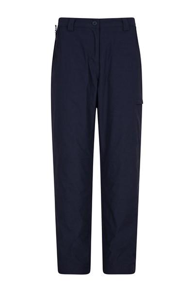 Winter Trek Stretch Womens Trousers - Short Length - Navy