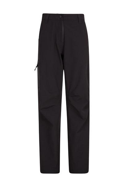 3 Layer Waterproof Womens Trousers - Short Length - Black