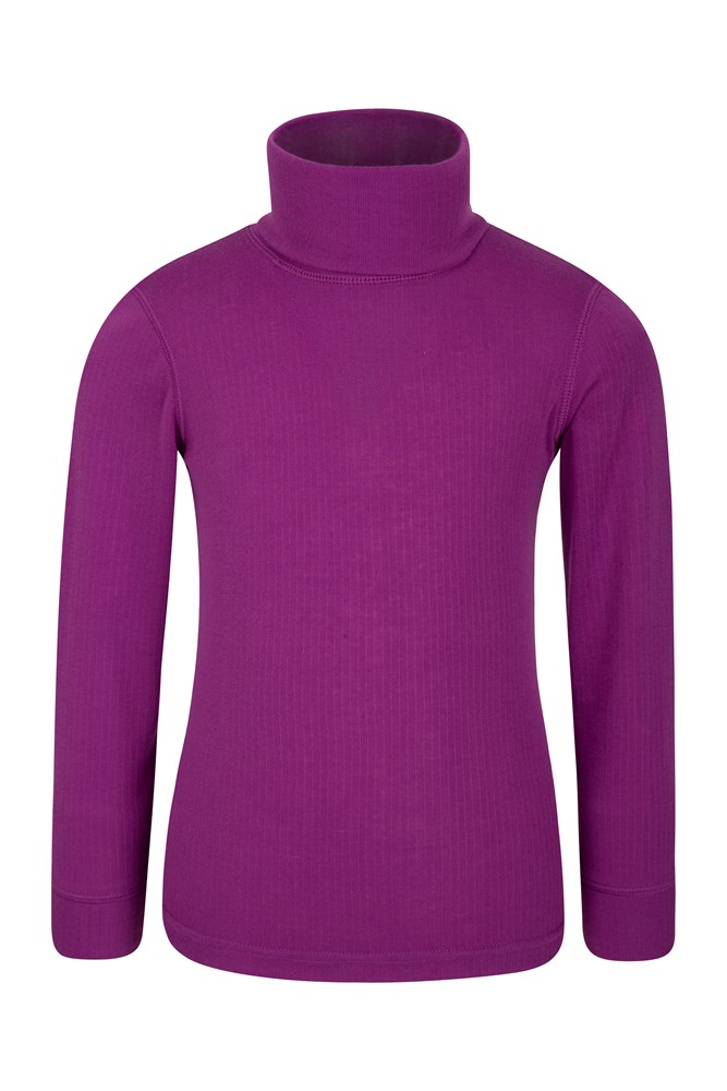 Talus Kids Roll Neck Top - Purple