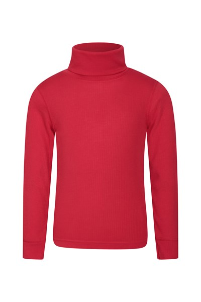 Talus Kids Roll Neck Top - Red