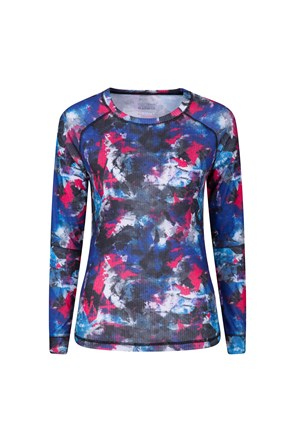 Talus Printed Womens Long Sleeve Top