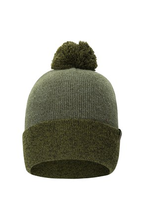 Compass Two Tone Bobble Mens Beanie