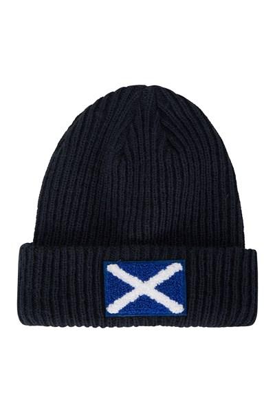 Scottish Flag Mens Beanie - Navy