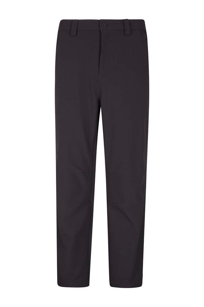 Hike 4-Way-Stretch Lined Mens Trousers - Short Length - Black