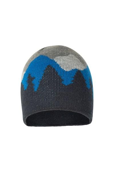 Three Peaks Mens Beanie - Navy