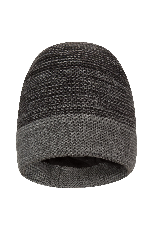 Troika Stripe Mens Beanie - Grey