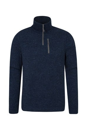 Idris Contrast Mens Fleece