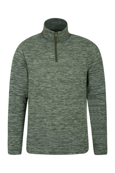 Idris Textured Mens Fleece - Grey
