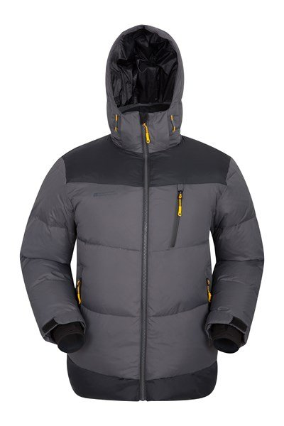 Polar Expedition Mens Down Padded Jacket - Grey