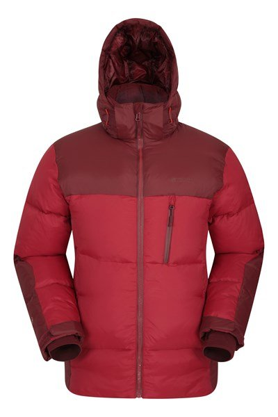 Polar Expedition Mens Down Padded Jacket - Red