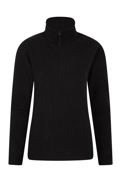 Camber Womens Half-Zip Fleece - Black