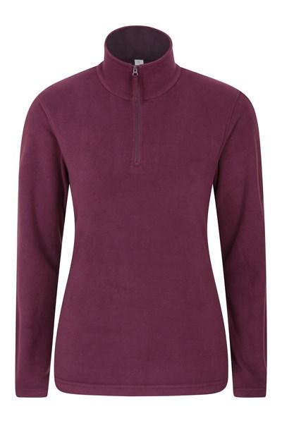 Camber Womens Half-Zip Fleece - Burgundy