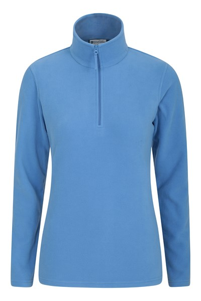 Camber Womens Half-Zip Fleece - Blue
