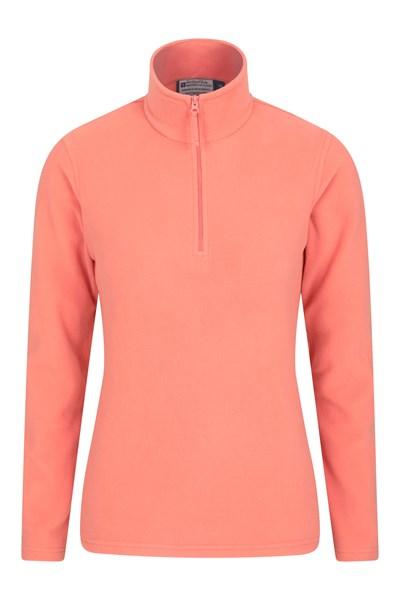 Camber Womens Half-Zip Fleece - Orange