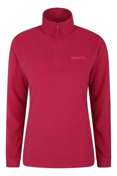Camber Womens Half-Zip Fleece - Pink