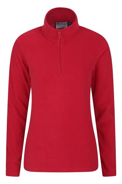 Camber Womens Half-Zip Fleece - Red