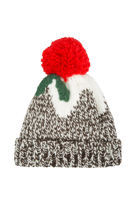 Christmas Pud Womens Pom Beanie  304a620187d
