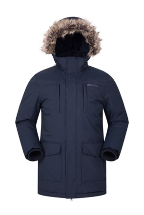 Long Padded Mens Parka