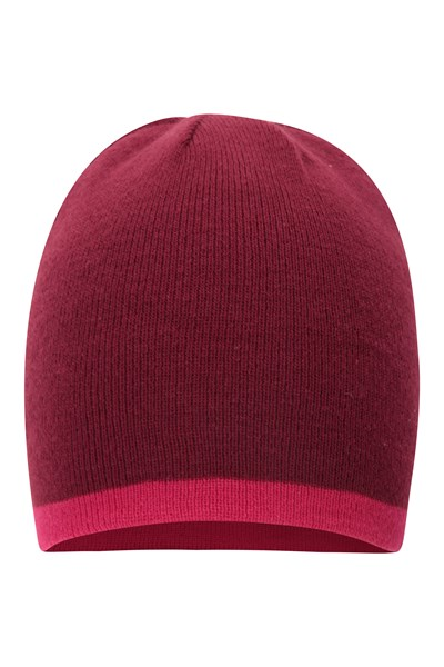 Ivalo Womens Reversible Beanie - Pink