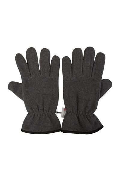 Thinsulate Fleece Mens Gloves - Grey