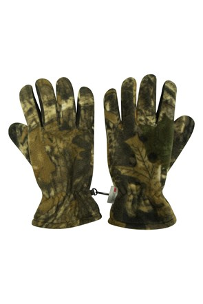Camo Thinsulate Mens Fleece Gloves