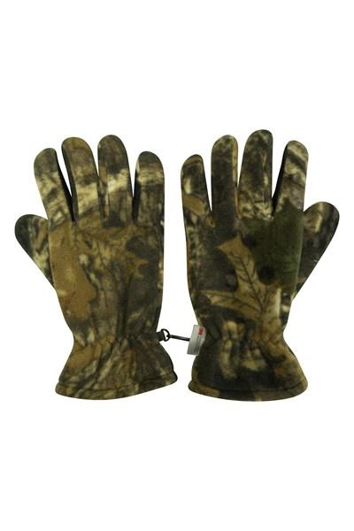 Camo Thinsulate Mens Fleece Gloves - Green
