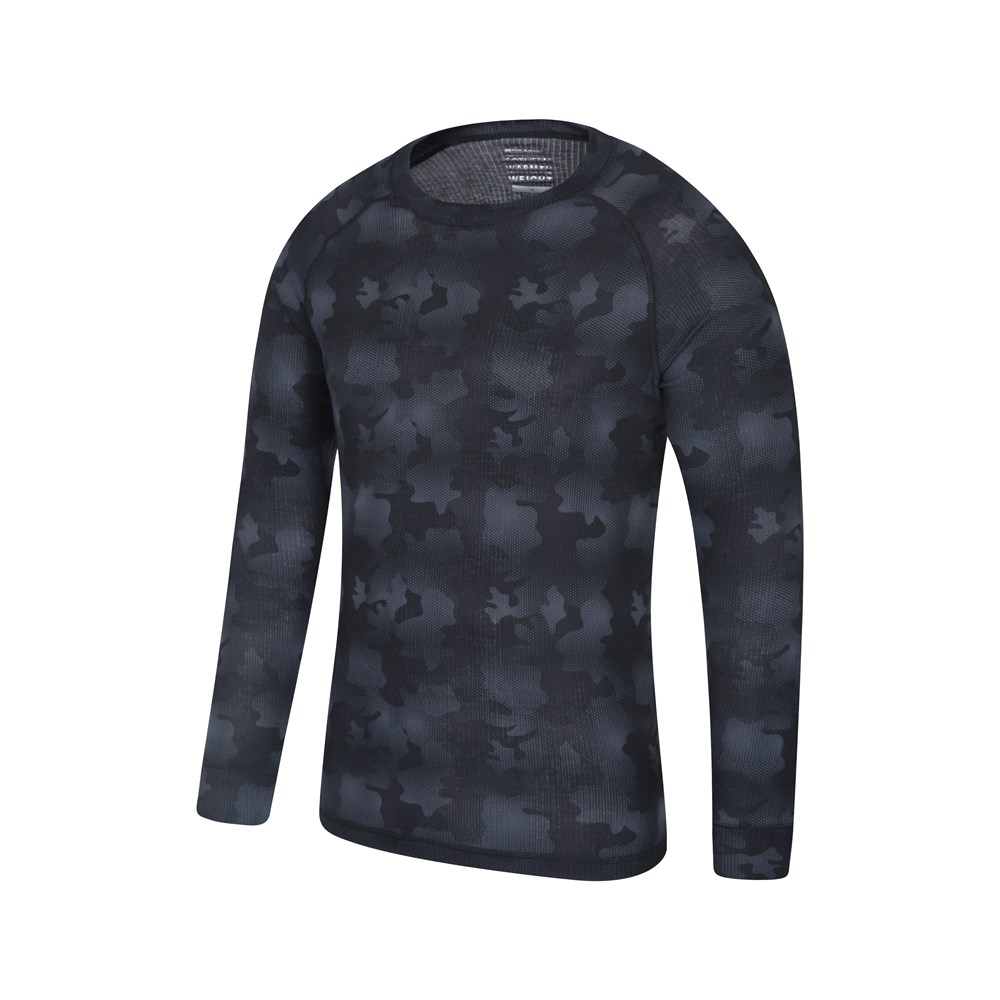 Mountain Warehouse Talus Printed Top Round Neck Quick Dry Machine Washable