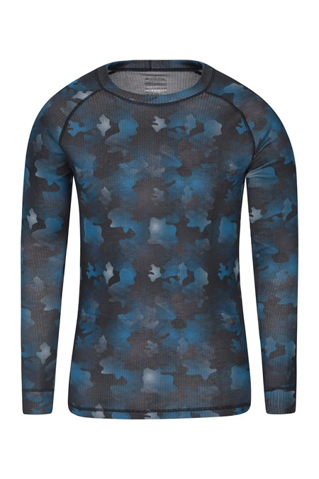 028465 TALUS PRINTED ROUND NECK BASELAYER TOP