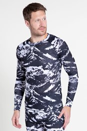 Talus Mens Printed Round Neck Top
