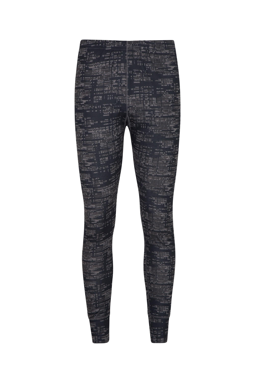 Talus Mens Printed Pants - Black