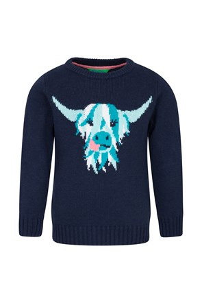 Highland Cow Knitted Kids Jumper