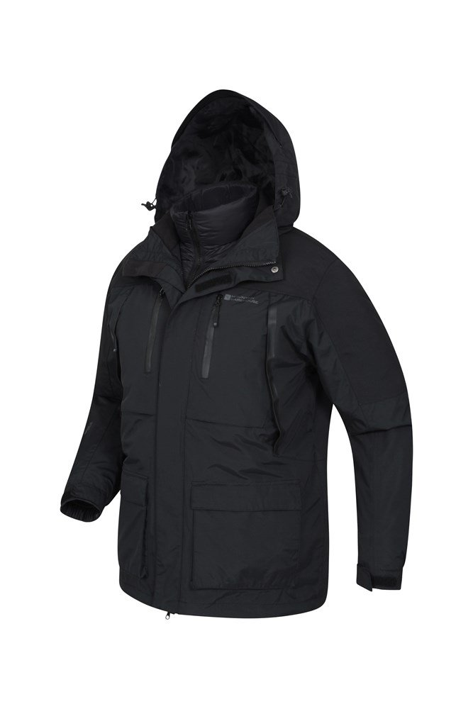 13664adff Correspondent Mens Down Padded 3 In 1 Jacket
