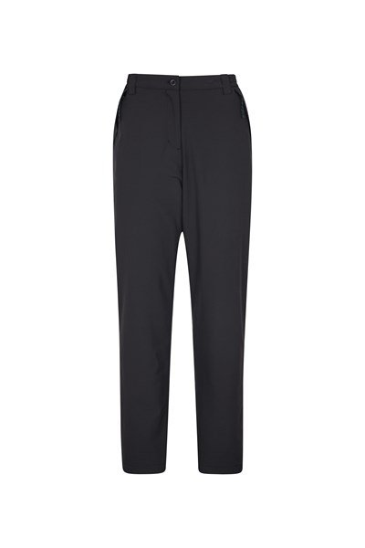 Arctic Fleece Lined Stretch Womens Trousers - Black