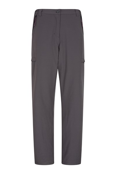 Arctic Fleece Lined Womens Stretch Trousers - Short Length - Grey