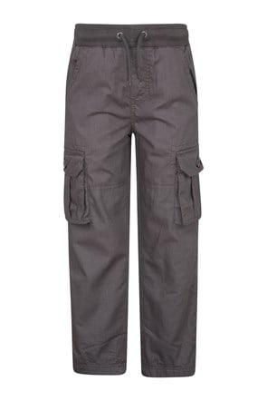 Pull Up Kids Jersey Lined Cargo Trousers